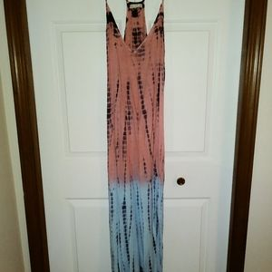 Adorable Tie-dye Maxi Dress by Exist